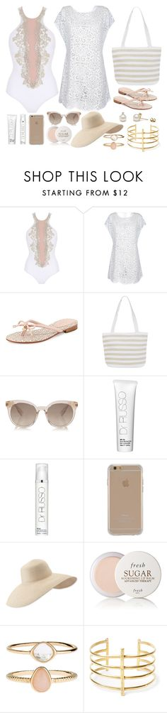 """""""Lovely"""" by allyyy09 ❤ liked on Polyvore featuring La Perla, Kate Spade, Denim & Co., Dr Russo, Agent 18, Eric Javits, Fresh, Accessorize and BauXo"""