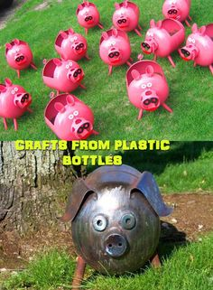 Crafts from plastic bottles 17