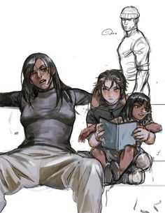 Overwatch Young Ana, Mccree, Pharah and Reaper. https://twitter.com/sjlee214/media