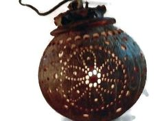 Home Decorative Coconut Shell Garden Hanging Night Lights party lights Lamps