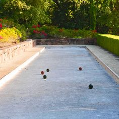 bocce court. perfect for my side yard.