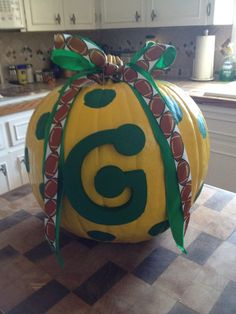 My Greenbay pumpkin! Loving it
