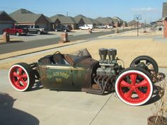 Afternoon Drive: Hot Rods & Rat Rods Photos) - A hot rod is a specific type of automobile that has been modified to produce more power for racing straight ahead. The hot rod originated in the early. Model A Rat Rod, Muscle Cars, F100, Rat Rod Cars, Hot Rides, Us Cars, Old Trucks, Chevy Trucks, Semi Trucks