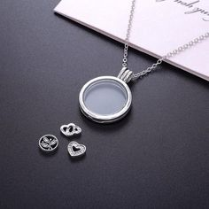 Petite Memories Authentic S925 Silver Necklace With Floating Locket