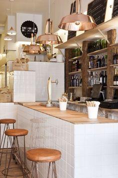 27 Captivating Scandinavian Bar Stools For Any Type Of Decor - Di Home Design Cafe Interior Design, Retail Interior, Cafe Design, Design Design, Bakery Design, Restaurant Design, Modern Restaurant, Cafe Bar, Counter Design