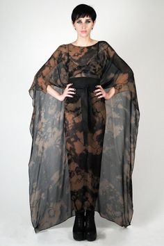 Laced With Romance - ACID BROWN CAPE CAFTAN