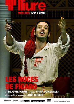 """Representació de """"Les noces de Fígaro"""", de Caron de Beaumarchais. Al Teatre Lliure-Montjuïc (Barcelona). Des del 2 de desembre 2016 fins al 22 de gener 2017"""