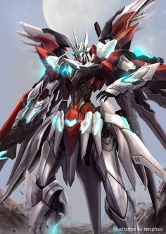 Intara Krutta Drive by zersphaiz on DeviantArt Arte Gundam, Gundam Art, Robot Concept Art, Armor Concept, Character Art, Character Design, Mecha Suit, Gundam Wallpapers, Gurren