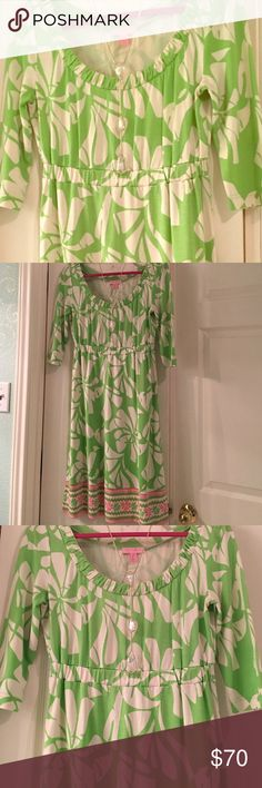Lilly Pulitzer dress Beautiful LP dress that is fun, light, and flirty. Like new - only worn once. Open to offers!! Lilly Pulitzer Dresses Midi