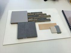 Materialenbord badkamer ontwerp bathroom design