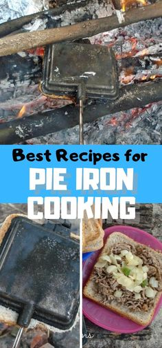 Best Pie Iron Recipes for using a pie cooker over an open fire Camping Recipes from Life Sew Savory Pie Iron Cooking, Dutch Oven Cooking, Fire Cooking, Outdoor Cooking, Camping Food Pie Iron, Camping Meals, Camping Stuff, Camping Tips, Best Camping Recipes