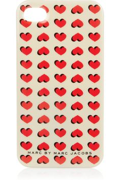 MARC BY MARC JACOBS  Light Hearted printed iPhone 4G case  $38