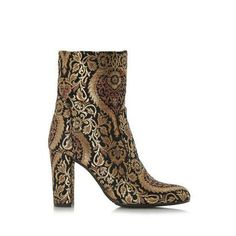 Jacquard Heeled Ankle Boot by Dune London