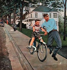 "Bike Riding Lessons ~ George Hughes Father is having ""those issues"" again. Back to the institution."