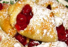 """Cherry Filled Crescent Rolls from Food.com: My cousin used to make a similar dessert when we were camping, so when I found this recipe in the """"Busy Woman's Cookbook"""" I couldn't resist it! It's so simple and yummy!"""