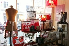 Red lush lampshades!