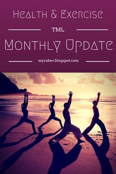 The Seventh installment of Health & Exercise for December is live on the blog. No resolutions for me just personal motivation and determination - I just need a base line.