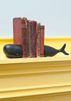 Start to Fin Bookends - Black, Nautical, Dorm Decor