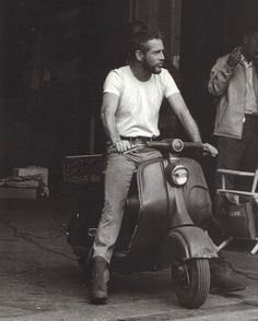 Paul Newman!!! Never saw that on any scooter rally I went on.