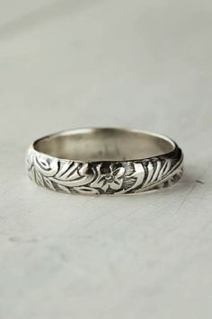 Art Deco Sterling Silver Band