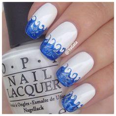 Ocean Waves #nails #nailarts