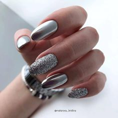 Crome Nails, Wow Nails, Nails Design With Rhinestones, Cute Acrylic Nails, Fancy Nails, Purple Nails, Stylish Nails, Manicure And Pedicure, Christmas Nails