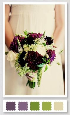 #aubergine and #green #wedding #bouquet...Love this color combo.-Perfect