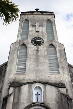 Historic Christ Church Cathedral. This building has tombstones on the floor form the 1800's and more. Real Weddings {Bahamas}: Britt  Keith! - Blackbride.com