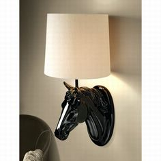 Equine Home Decor Majestic Brilliance Horse Sculptural Wall Sconce From The Most Chic Stores To The Hotels Horse Home Decor Uk Horse Themed Bedrooms, Bedroom Themes, Bedroom Decor, Equestrian Gifts, Equestrian Style, Horse Lamp, Bathroom Wall Sconces, Creation Deco, Western Decor