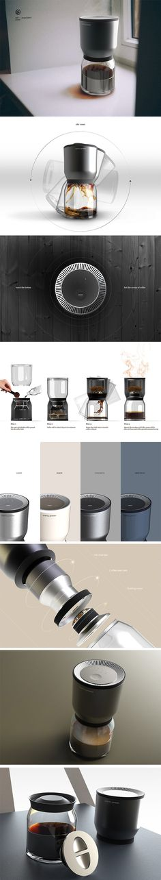 Scenty Presso is a twist on the coffee maker that deliberately helps perk you up with the scent of coffee. It utilizes Balmuda's innovative evaporation tech to infuse water with coffee. After combining the grinds and water in the reservoir, simply turn it upside down and a fresh cup will instantly begin to pour into the cup.