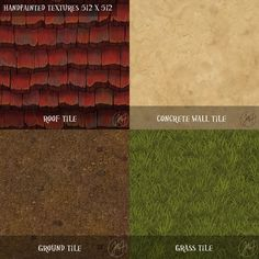 Handpainted Tileable Textures by Mad-Owl.deviantart.com on @deviantART