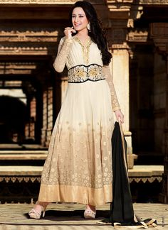 Sacred Off White Georgette Anarkali Suits