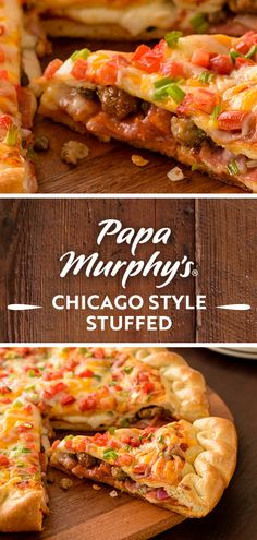 Find a pizza near you to choose from our crafted pizza recipes or create your own pizza. Chicago Style Pizza, Pizza Menu, Savory Pastry, Easy Eat, Crust Pizza, Bread Machine Recipes, Red Sauce, Menu Items, Deep Dish
