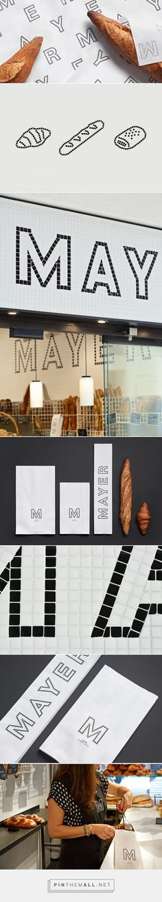 Forma & Co designed the identity for Mayer Boulangerie. Mayer, high quality bread in Barcelona's new boulangerie. Brand Identity Design, Corporate Design, Business Design, Branding Design, Identity Branding, Corporate Identity, Visual Identity, Graphic Design Projects, Graphic Design Posters