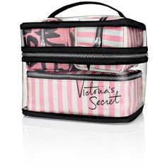 Victoria's Secret Four-piece Travel Case (565 UYU) ❤ liked on Polyvore featuring bags, luggage, beauty, extras, makeup and makeup bags