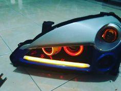 Custom suzuki aerio headlights