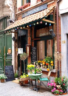 Antwerp cafe, Belgium  (really, it's in Belgium, not Paris, despite a mislabeled photo that is floating around Pinterest)