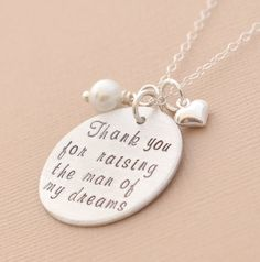 Hand stamped necklace  Thank you for raising the by brandedheart, $42.00