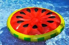 Watermelon Inflatable Island Pool Float in Water & Pool Toys