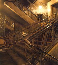 The Art deco staircase in 'Big Biba'