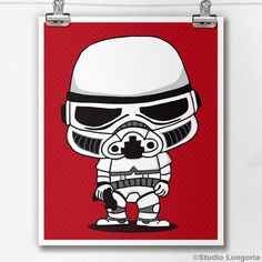 Limited Edition Storm Trooper Print by StudioLongoria on Etsy, $10.00