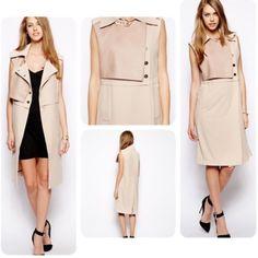 Three Floor faux leather sleeveless jacket brand new, fits 0-2, ❌NO TRADE‼️ Three Floor Jackets & Coats