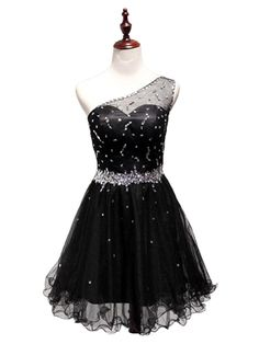 Beautiful Prom Dress, one shoulder homecoming dress black homecoming dresses tulle homecoming dress party dress short prom gown backless sweet 16 dress homecoming gowns Meet Dresses Simple Homecoming Dresses, Cute Dresses For Party, Sweet 16 Dresses, Prom Party Dresses, Cheap Dresses, Sexy Dresses, Short Dresses, Dress Party, Evening Dresses