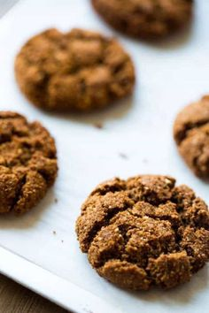 This Ginger Snap Recipe, tastes even better than Grandmas and is quick, easy and Paleo friendly! Perfect for healthier Christmas baking!