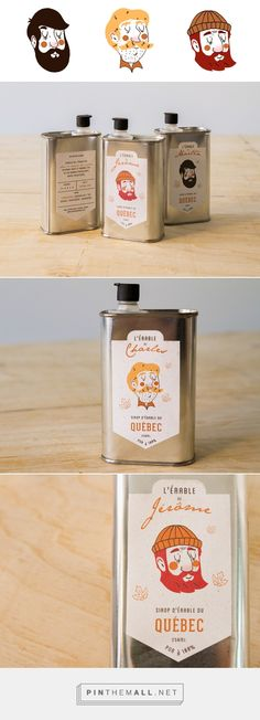 J'aime mon érable / Maple syrup by Marie-Pier Mercier Cool Packaging, Coffee Packaging, Bottle Packaging, Brand Packaging, Design Packaging, Packaging Stickers, Design Poster, Label Design, Branding Design