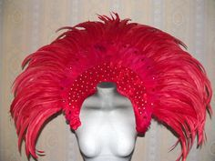Samba Carnival dragqueen Showgirl feather collar red | eBay