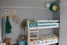 A New Room for the Little Love Audreys ~ Unisex shared bedroom with bunk beds.