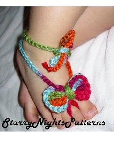 Baby / toddler Bow Barefoot Sandals Crochet Pattern- INSTANT DOWNLOAD PDF Pattern - 2 sizes included
