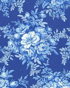 Dawn - Divine Delft Roses - Porcelain Blue