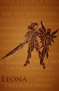 League Of Legends Poster http://www.etsy.com/listing/156077377/leona-league-of-legends-print?ref=shop_home_active